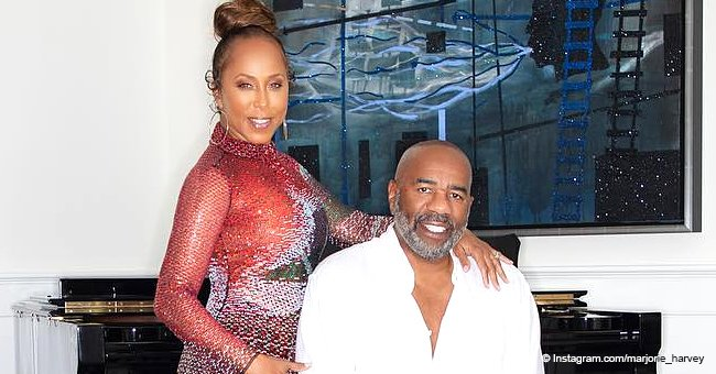 Marjorie Harvey wishes Steve a happy birthday in loving tribute and his answer is priceless
