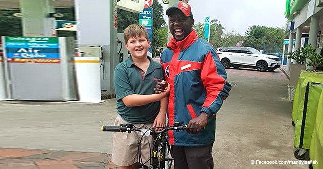 10-year-old boy uses savings to buy a bike for his favorite gas station attendant