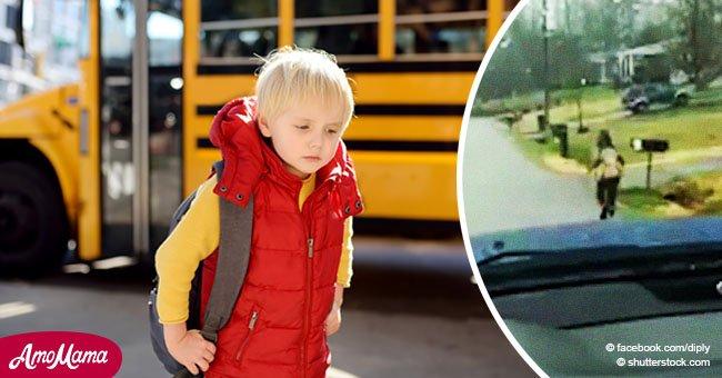 Hijo fue echado de autobús escolar, así que papá tuvo que idear un creativo castigo