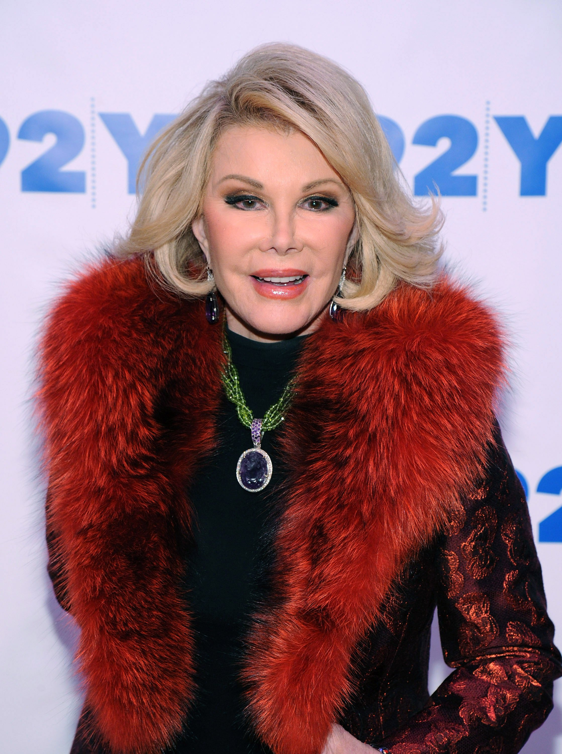 Joan Rivers attends An Evening with Joan and Melissa Rivers in New York City on January 22, 2014 | Photo: Getty Images