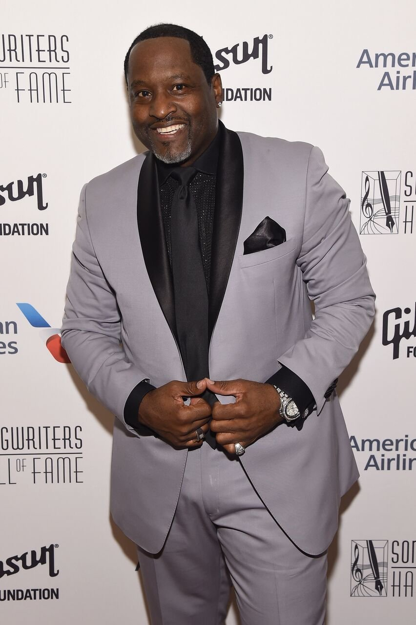 Johnny Gill poses backstage at the Songwriters Hall Of Fame 48th Annual Induction and Awards. | Source: Getty Images