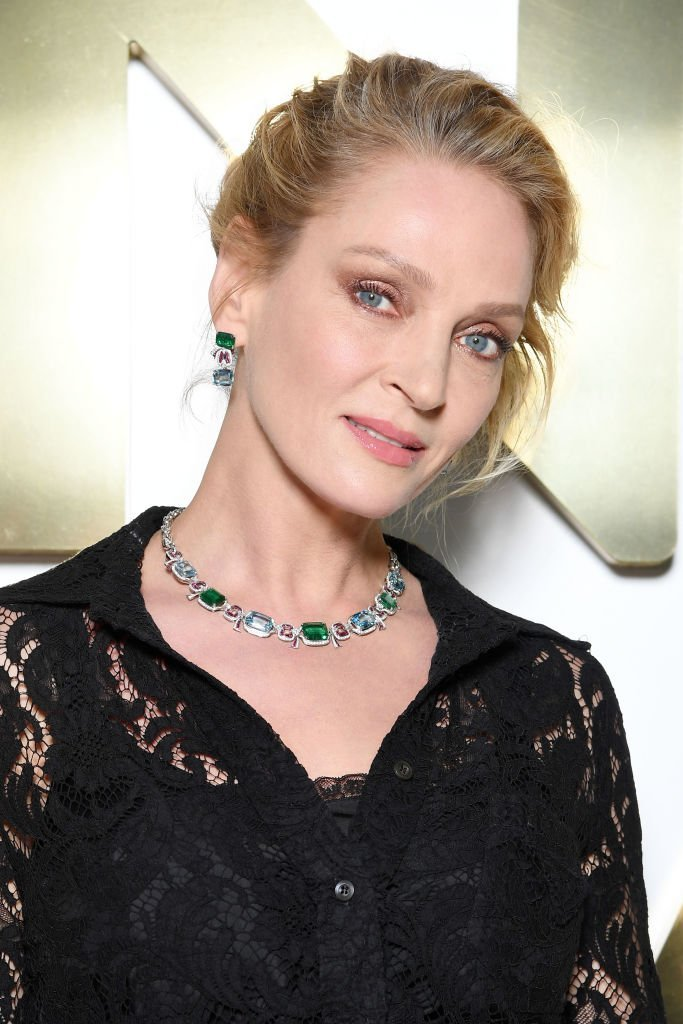 Uma Thurman attends the Bvlgari Hight Jewelry Exhibition in Capri, Italy | Photo: Getty Images