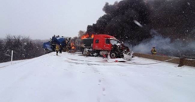 Multiple Injuries Reported after a Massive Pile up Blocked the Highway in Oklahoma