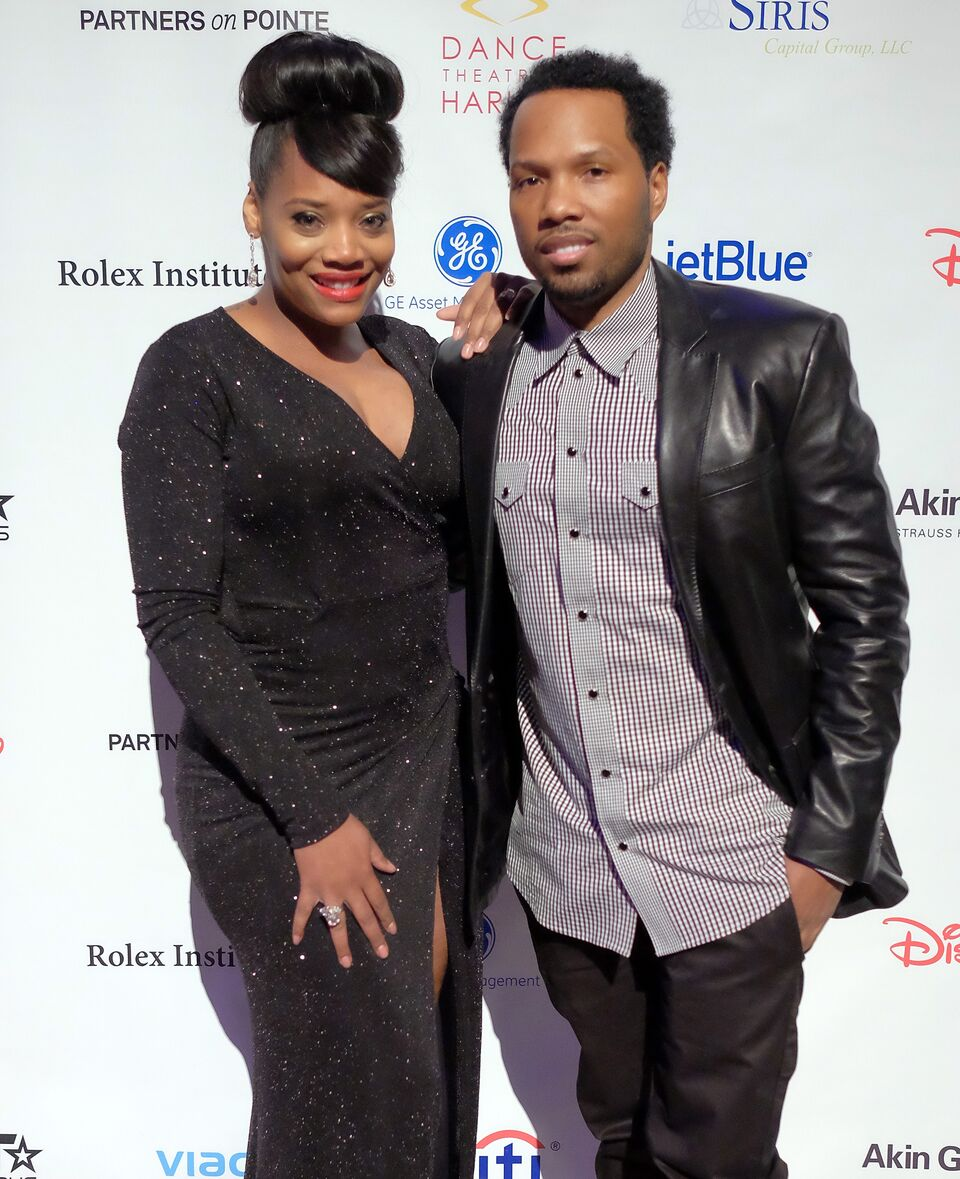 Yandy Smith and fiancee Mendeecees Harris attend the 2015 Dance Theatre Of Harlem Vision Gala at Cipriani 42nd Street on February 24, 2015 in New York City. | Source: Getty Images