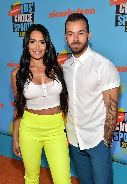 Nikki Bella and Artem Chigvintsev at Barker Hangar on July 11, 2019 in Santa Monica, California | Photo: Getty Images