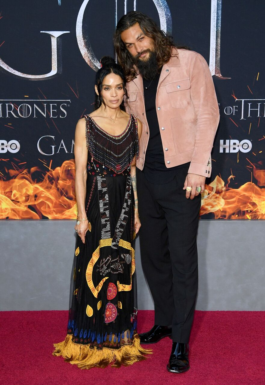 "Lisa Bonet and Jason Momoa attend the ""Game of Thrones"" premiere. 