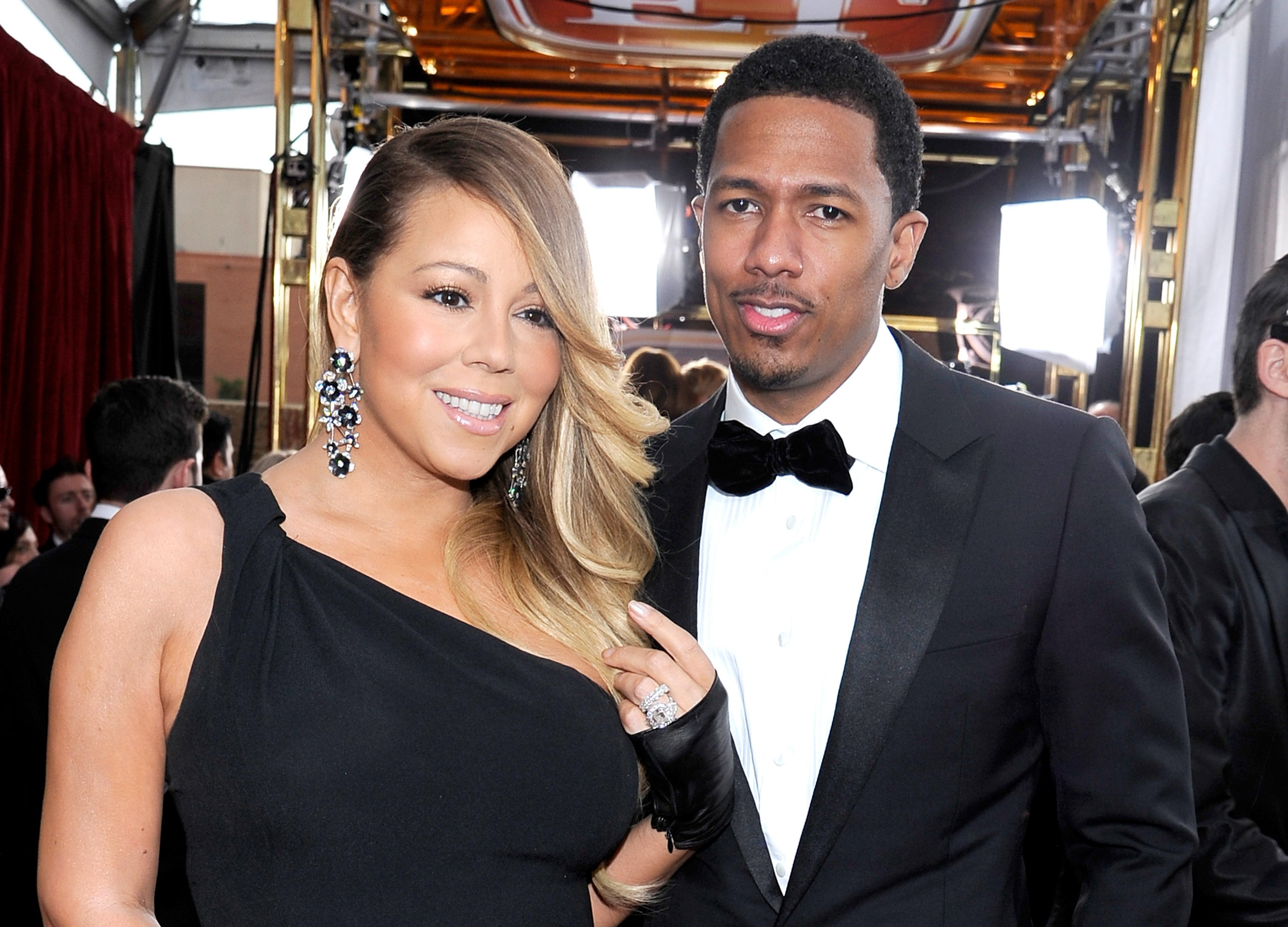 Singer-actress Mariah Carey and TV personality Nick Cannon attend the 20th Annual Screen Actors Guild Awards at The Shrine Auditorium on January 18, 2014, in Los Angeles, California. | Source: Getty Images.