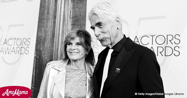 Sam Elliott looks radiant alongside his wife of 34 years who turns heads in a silver jacket