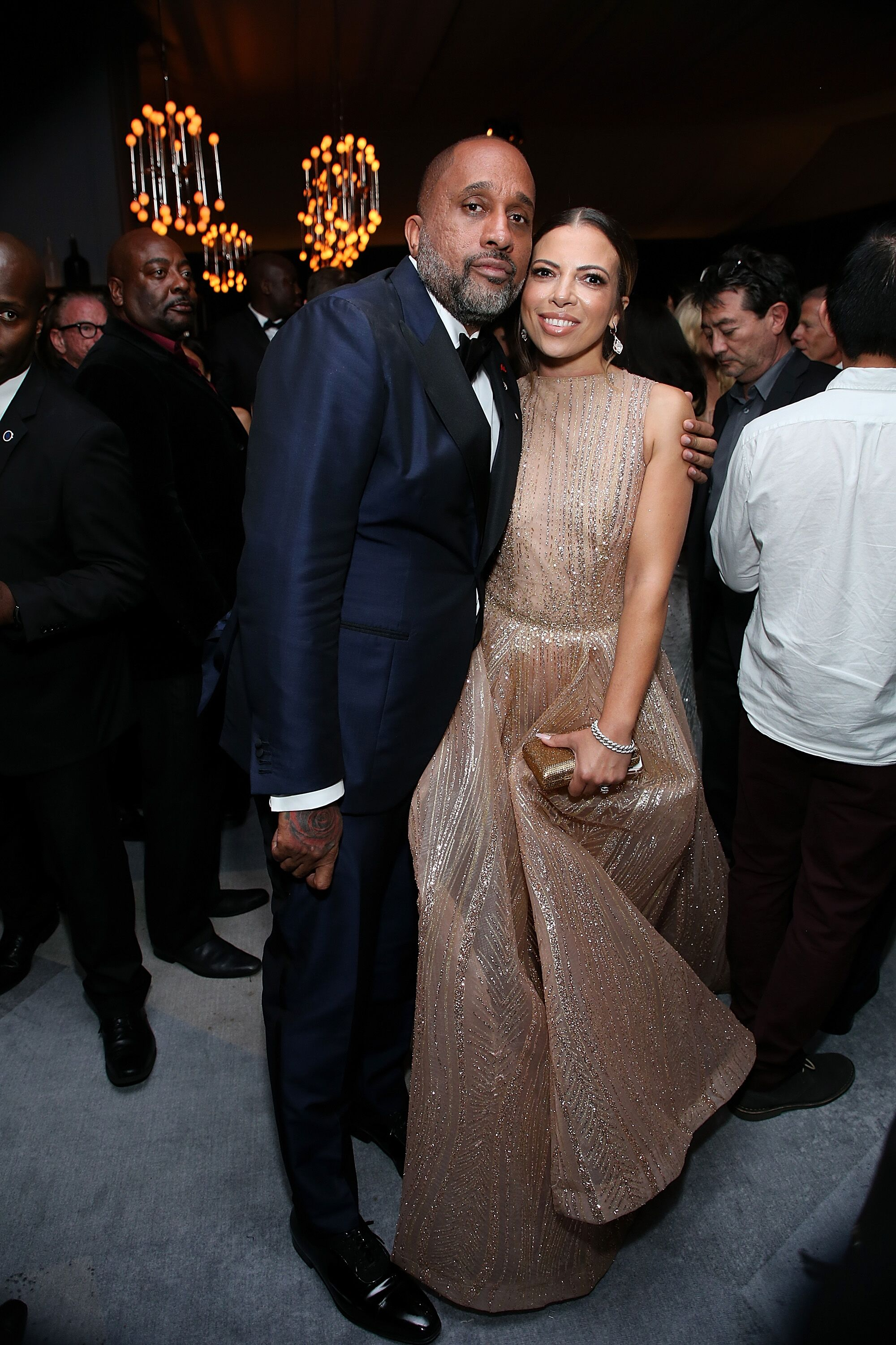 "Kenya Barris and his wife, Dr. Rania ""Rainbow"" Barris at Netflix's Emmy after-party in September 2018. 