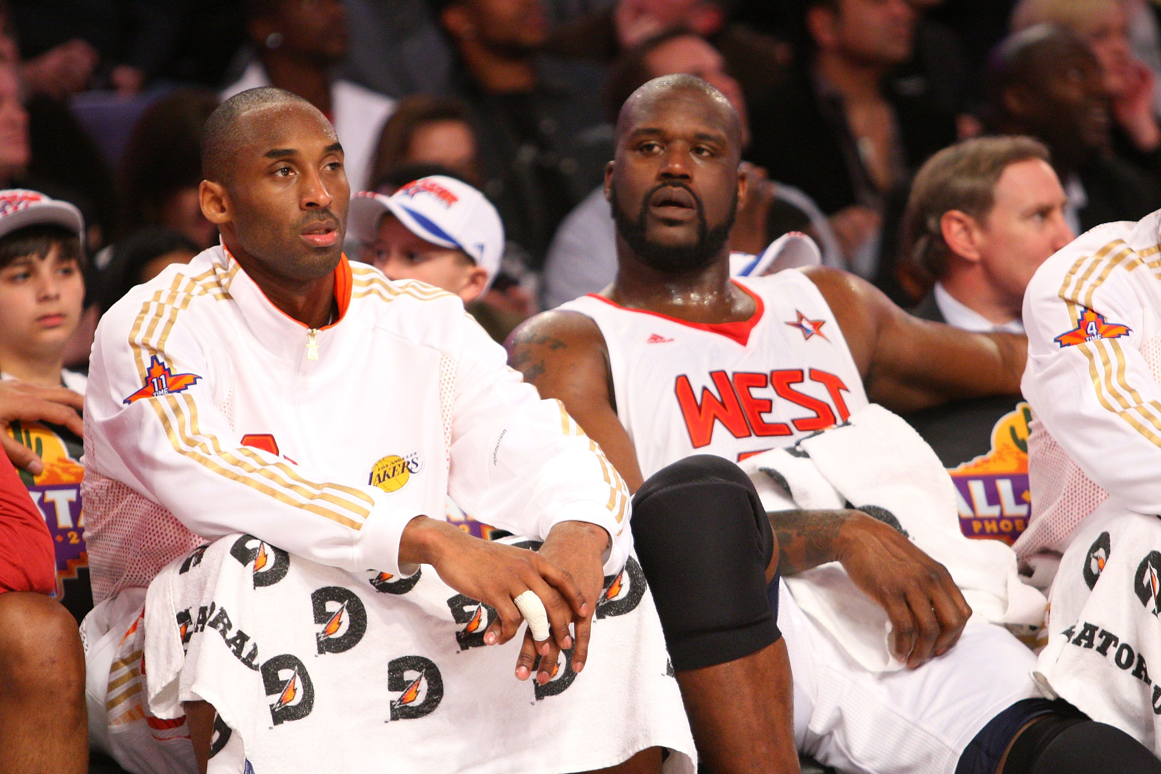 Kobe Bryant and Shaquille O'Neal at an NBA All Stars game/ Source: Getty Images