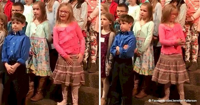 6-year-old girl gives it her all during church choir concert and her performance went viral