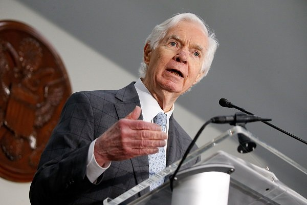 US Sen. Thad Cochran at the Hart Senate Building on June 14, 2017 in Washington, DC. | Source: Getty Images
