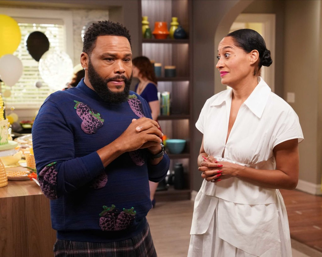 """A scene from """"Black-sh"""" where Dre underestimates Rhonda's ability to be a mom and struggles to support her decision to adopt a baby  Photo: Getty Images"""