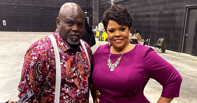 Tamela Mann from 'Meet the Browns' Shows off Slimmer Waist in Purple Dress Amid Weight Loss in Pic with Husband David