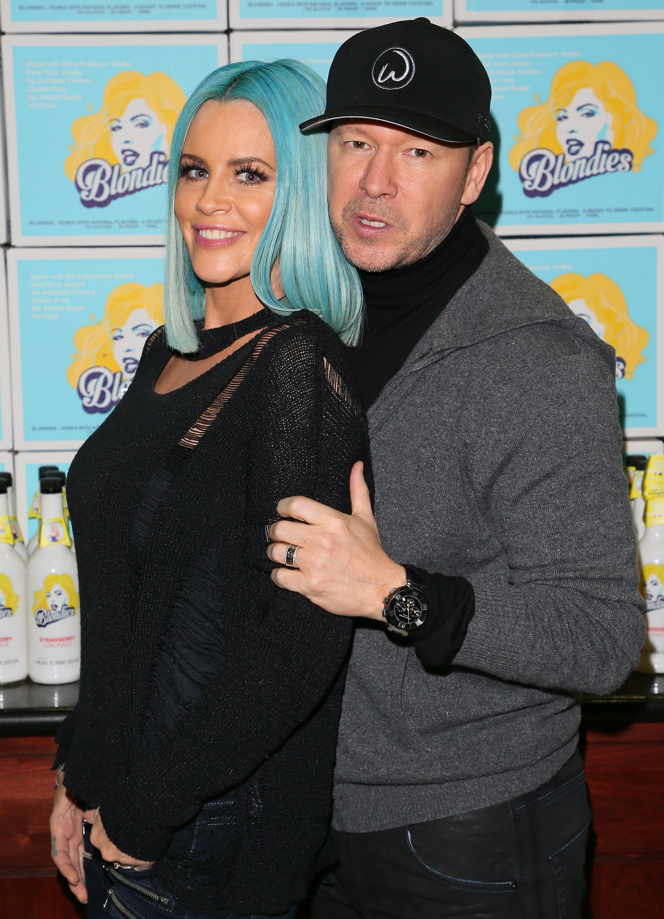Jenny McCarthy and Donnie Wahlberg celebrate her premiere Vodka Line, 'Blondies Vodka' at K&L Liquor Store | Source: Getty Images