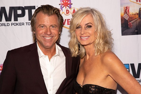 """Vincent Van Patten (L) and Eileen Davidson arrive for the LA Premiere Of """"7 Days To Vegas"""" at Laemmle Music Hall on September 21, 2019 