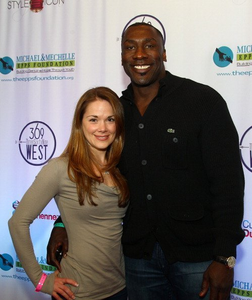 Shannon Sharpe and Katy Kellner at Market Tower on February 3, 2012 | Photo: Getty Images