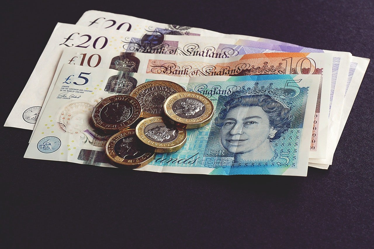 Pound banknotes and coins   Source: Pexels