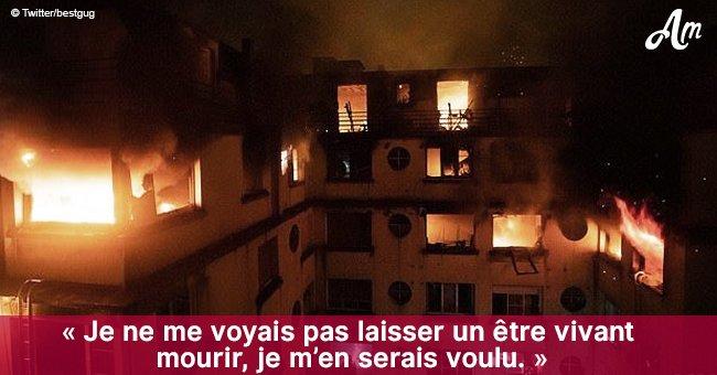 """""""J'avais une main sur la corde et je tenais mon chat"""": une survivante de l'incendie de Paris en parle"""