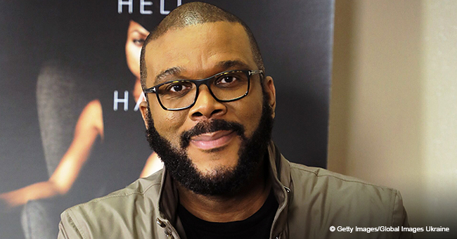 Tyler Perry's Girlfriend Stuns in Sheer Black and Yellow Dress (Photo)