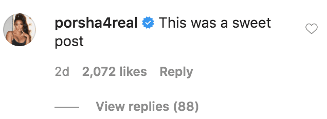 Porsha Williams commented on a 50 Cent's picture in which his compared Sandi Graham's looks to her grandson, Adonis Graham   Source: Instagram.com/50cent