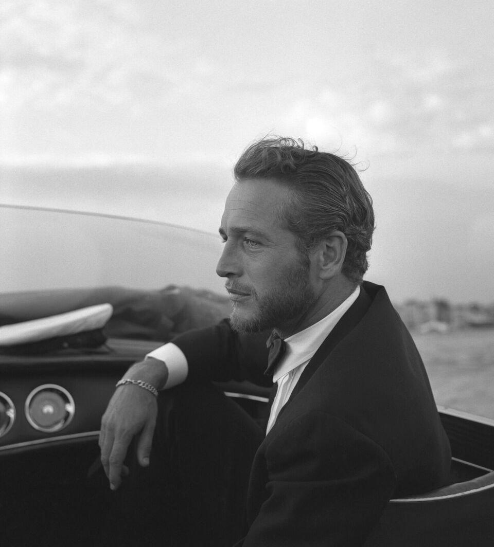 Paul Newman en blanco y negro.   Foto: Getty Images