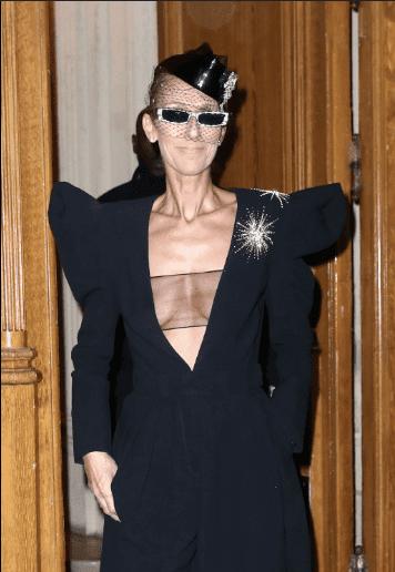 Céline Dion en route pour les Folies Bergère à Paris le 25 janvier 2019 | Youtube/ Paris Popular