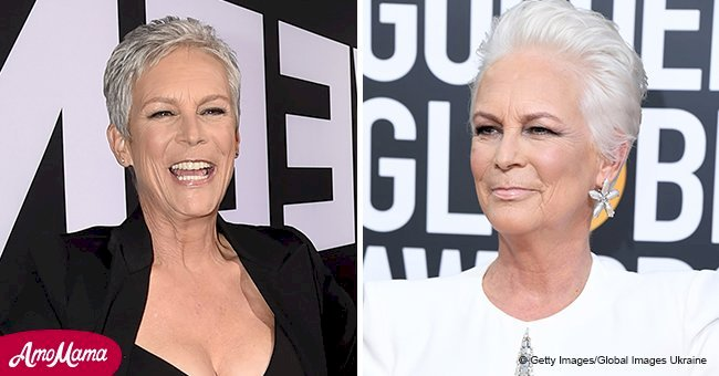Jamie Lee Curtis steals the spotlight with her new platinum-white hair at the Golden Globes