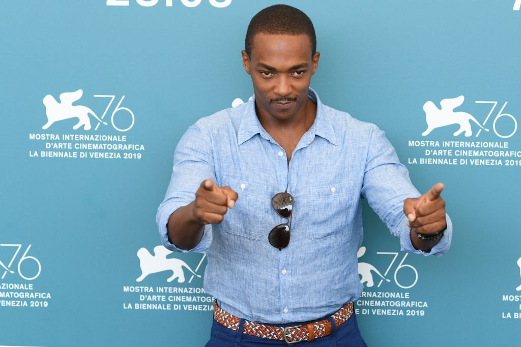 "Anthony Mackie attends ""Seberg"" photocall during the 76th Venice Film Festival at Sala Grande 