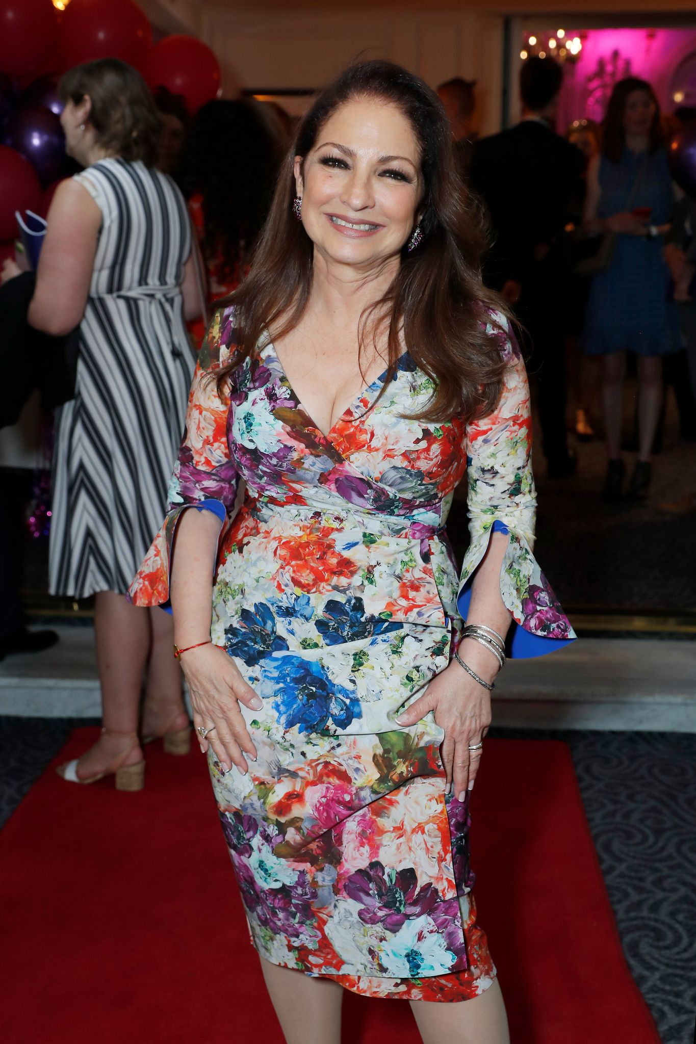 """Gloria Estefan at the press night after party for """"On Your Feet"""" at The Savoy Hotel on June 27, 2019 in London, England. 