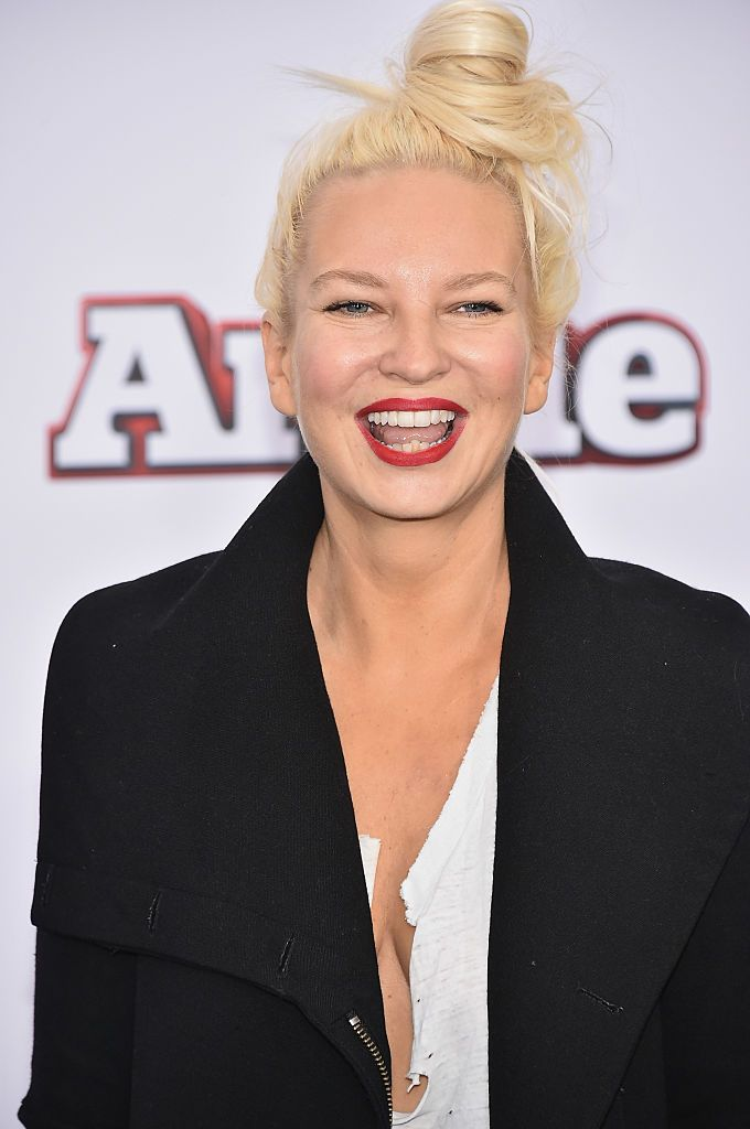 "Sia at the ""Annie"" world premiere at Ziegfeld Theater on December 7, 2014, in New York City 