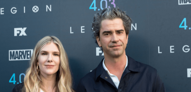 """Lily Rabe and Hamish Linklater attend the """"Legion"""" Season 2 premiere at DGA Theater on April 2, 2018 in Los Angeles, California   Photo: Getty Images"""