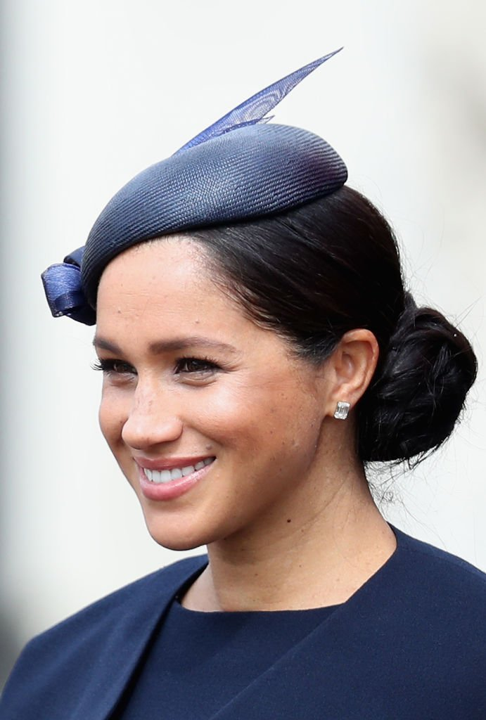 Meghan, Duchesse de Sussex pendant Trooping The Colour, le défilé annuel d'anniversaire de la Reine | Photo : Getty Images