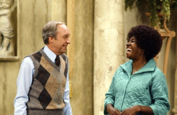 "Conrad Bain as Philip Drummond, LaWanda Page as Myrtle Waters on ""Different Strokes"" 