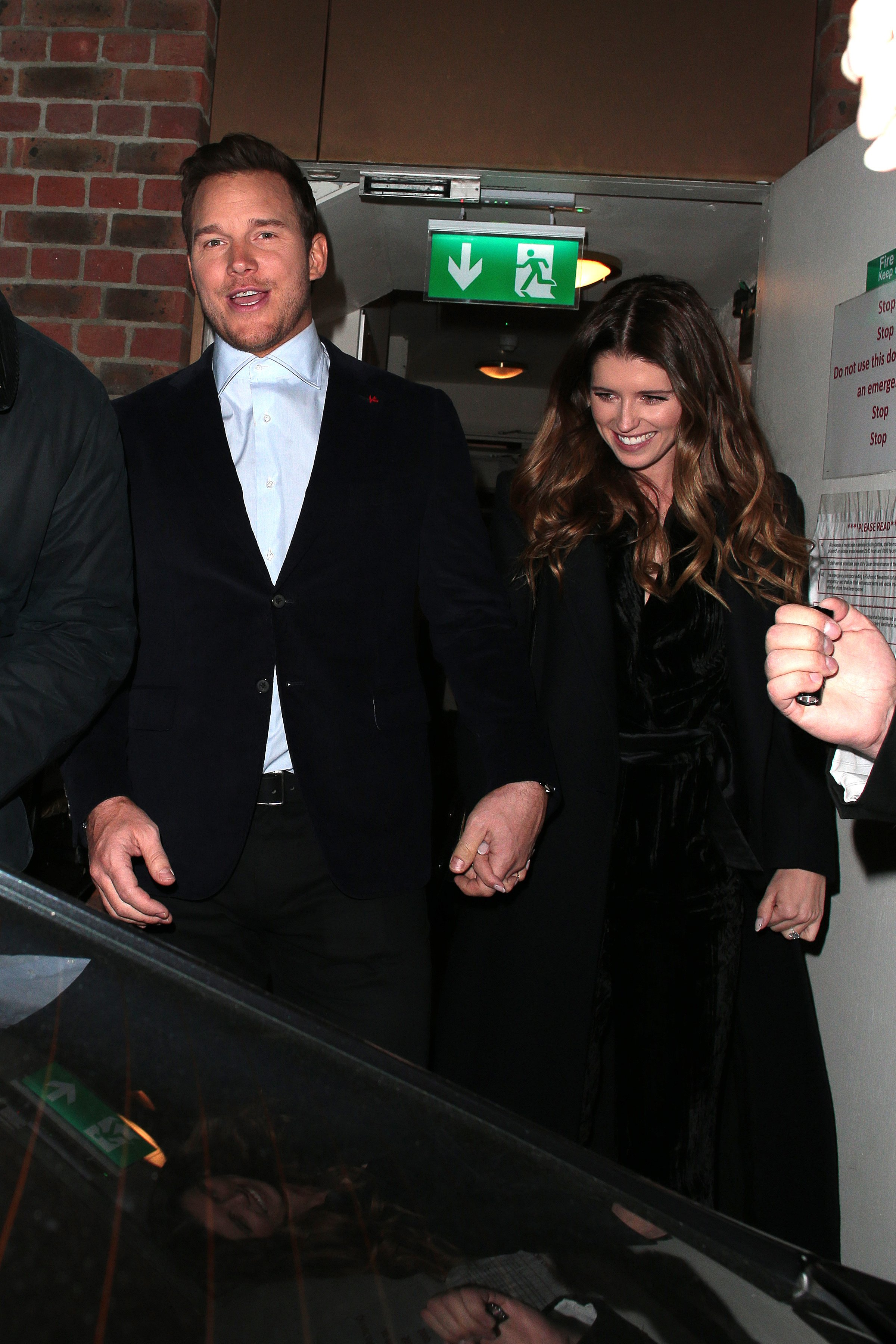 Chris Pratt and Katherine Schwarzenegger during a night out at Soho House on in London, England | Photo: Getty Images