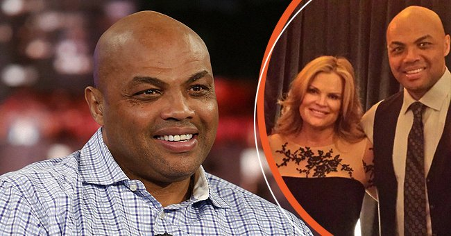 """On the left: Charles Barkley on """"Jimmy Kimmel Live!"""" February 2018. On the right: A picture of Charles Barkley and his beautiful wife, Maureen Blumhardt   Photo: Getty Images   Facebook/maureen.barkley1"""