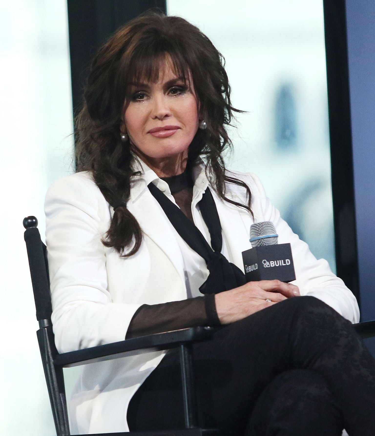 "Marie Osmond attends AOL Build Speaker Series to discuss ""Music is Medicine"" at AOL Studios In New York on April 15, 2016 