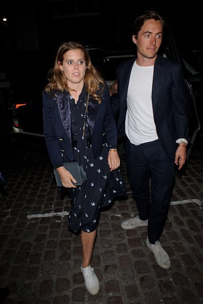 Princess Beatrice and Edorado Mapelli Mozzi seen arriving at the Chiltern Firehouse | Photo: Getty Images