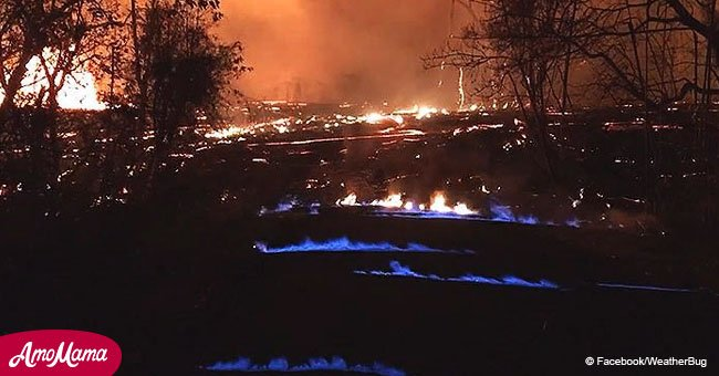 Mysterious blue flames spouting from Hawaiian volcano explained