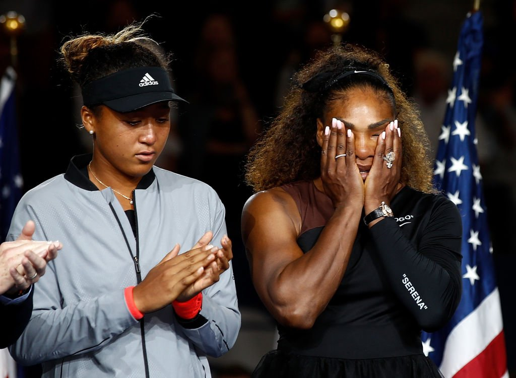Naomi Osaka after winning the Women's Singles finals match alongside runner up Serena Williams at the 2018 US Open | Photo: Getty Images