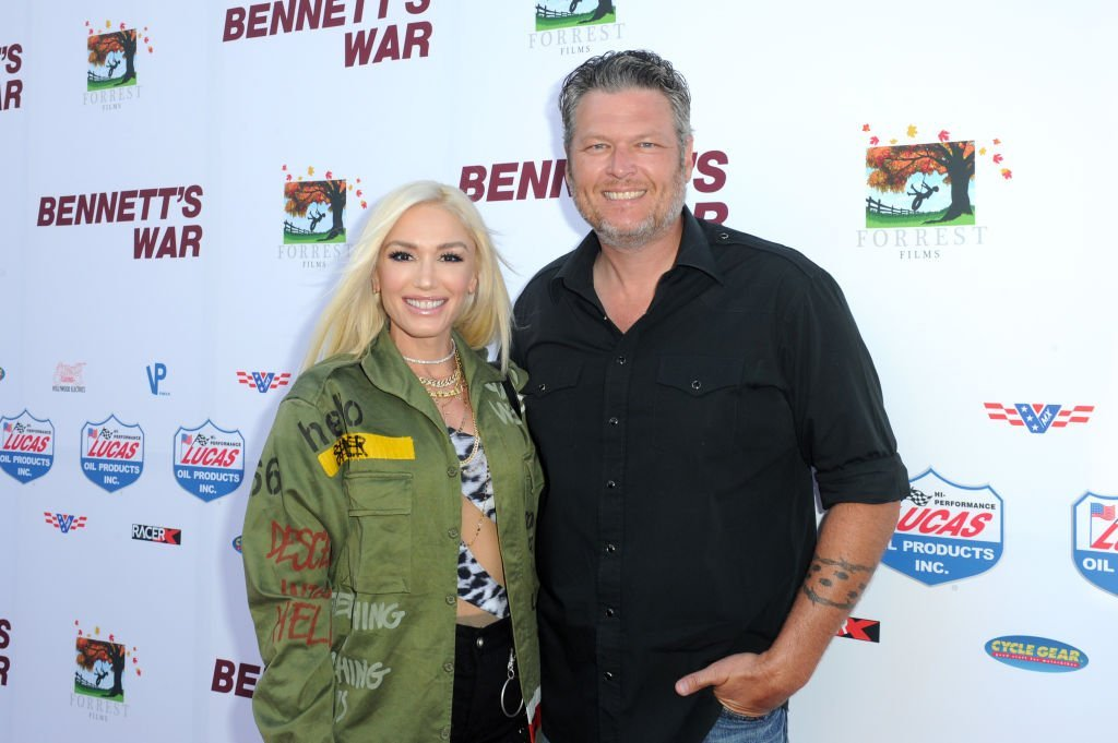"Gwen Stefani and Blake Shelton attend ""Bennett's War"" Los Angeles Premiere at Warner Bros. Studios. 