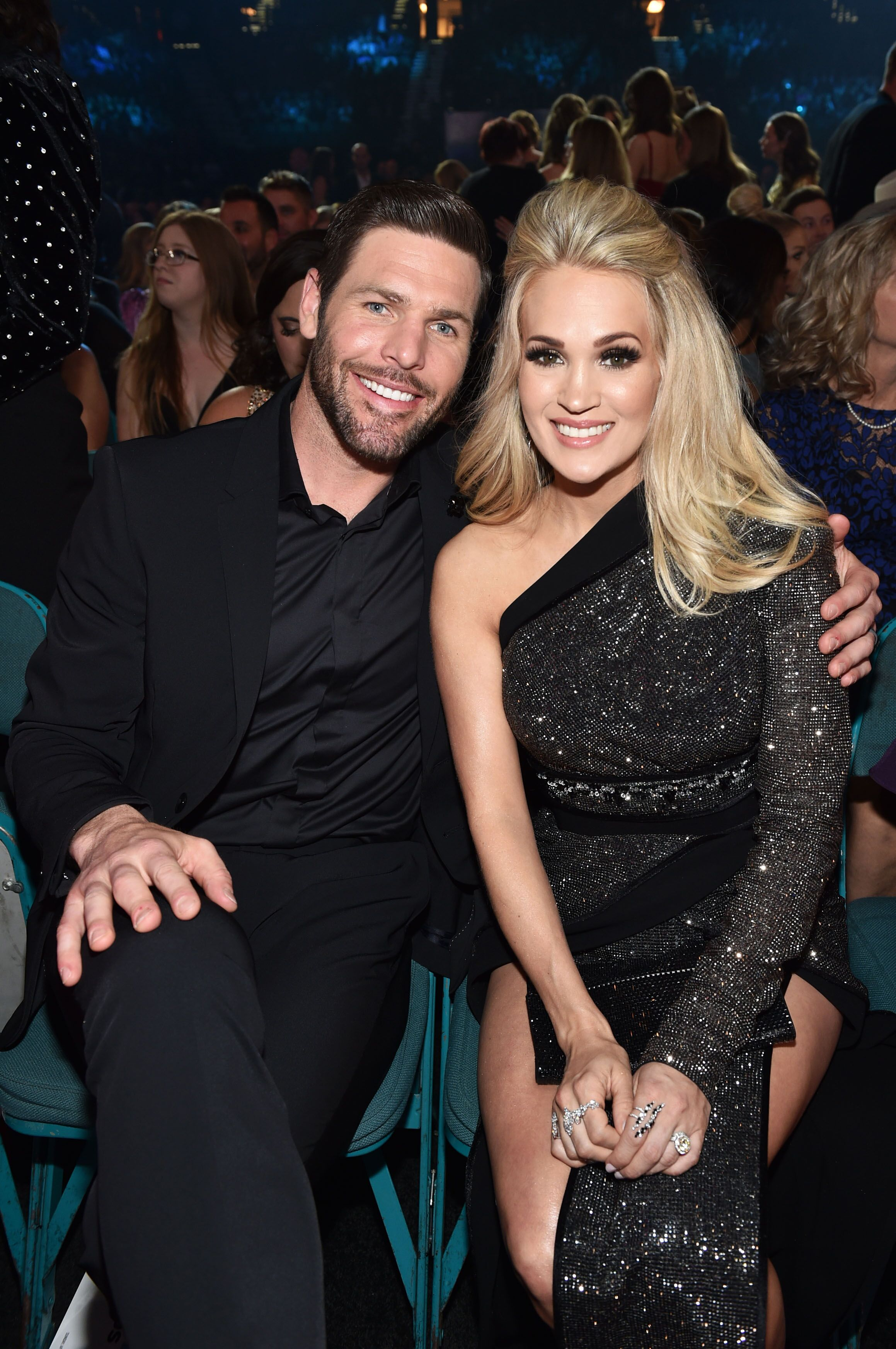 Carrie Underwood and Mike Fisher attend the Academy of Country Music Awards. | Source: Getty Images