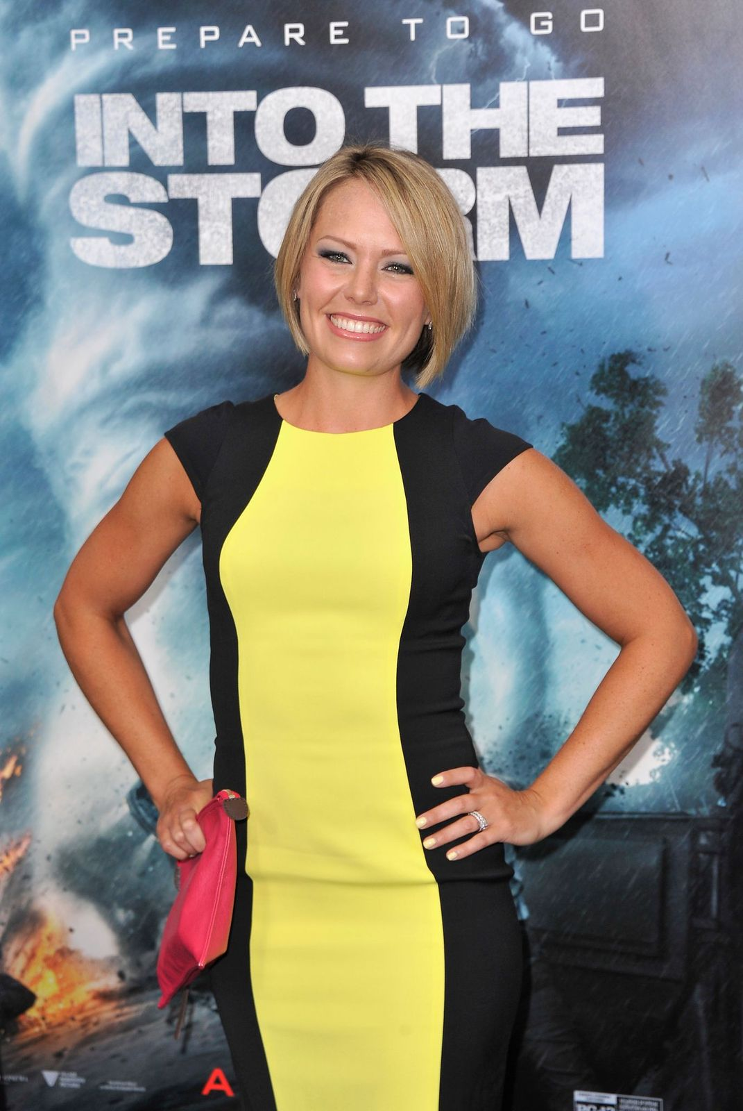 "Dylan Dreyer at the ""Into The Storm"" premiere at AMC Lincoln Square Theater on August 4, 2014, in New York City 