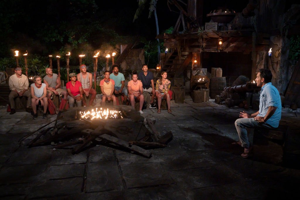 Casts at Tribal Council on SURVIVOR: WINNERS AT WAR on the CBS Television Network   Photo: Getty Images