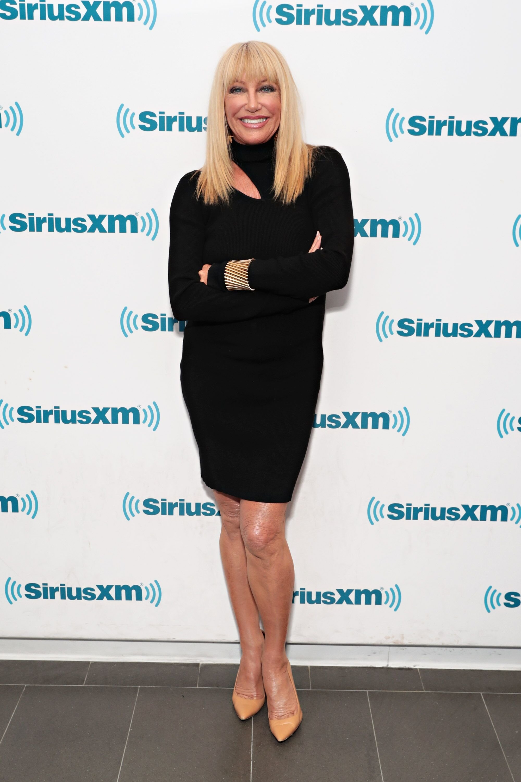Suzanne Somers visits the SiriusXM Studios on November 15, 2017 in New York City. | Getty Images / Global Images Ukraine
