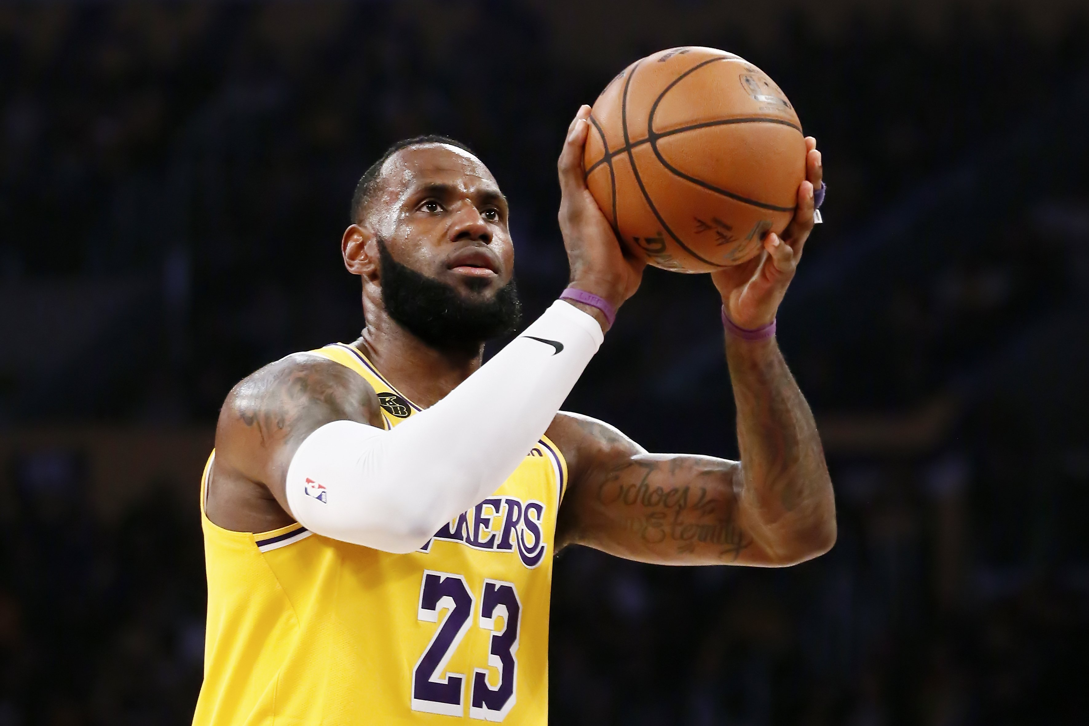 LeBron James during a game against the Brooklyn Nets at the Staples Center on March 10, 2020. | Photo: Getty Images