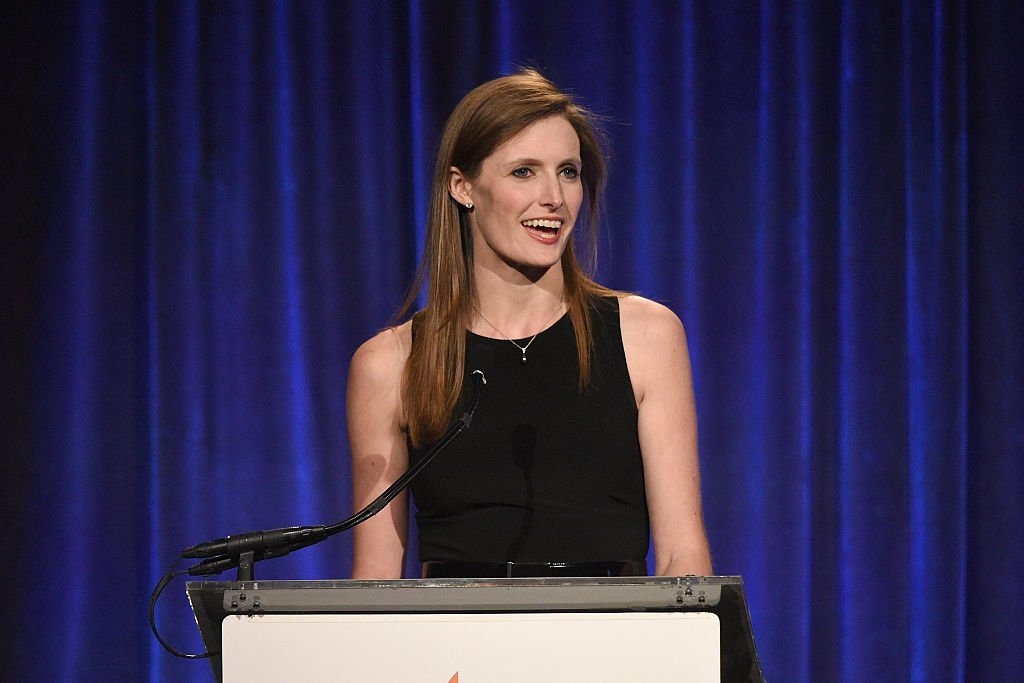 """Alexandra Reeve Givens speaks on stage during the Christopher & Dana Reeve Foundation hosts """"A Magical Evening"""" 