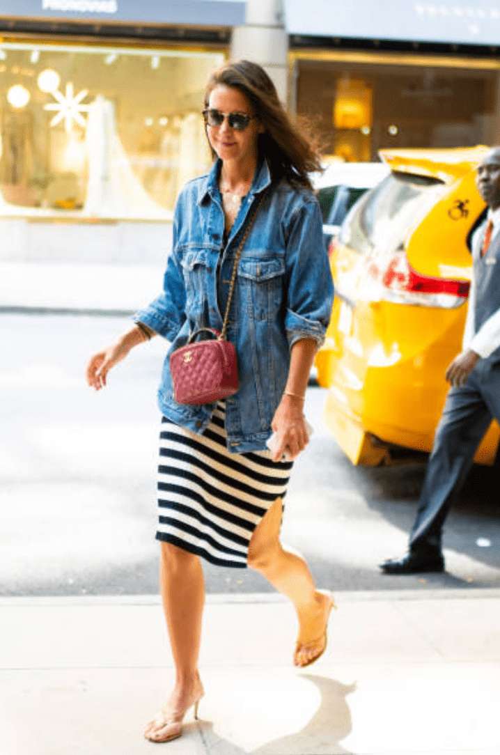 Katie Holmes pictured by paparazzi out and about in Midtown, New York | Getty Images