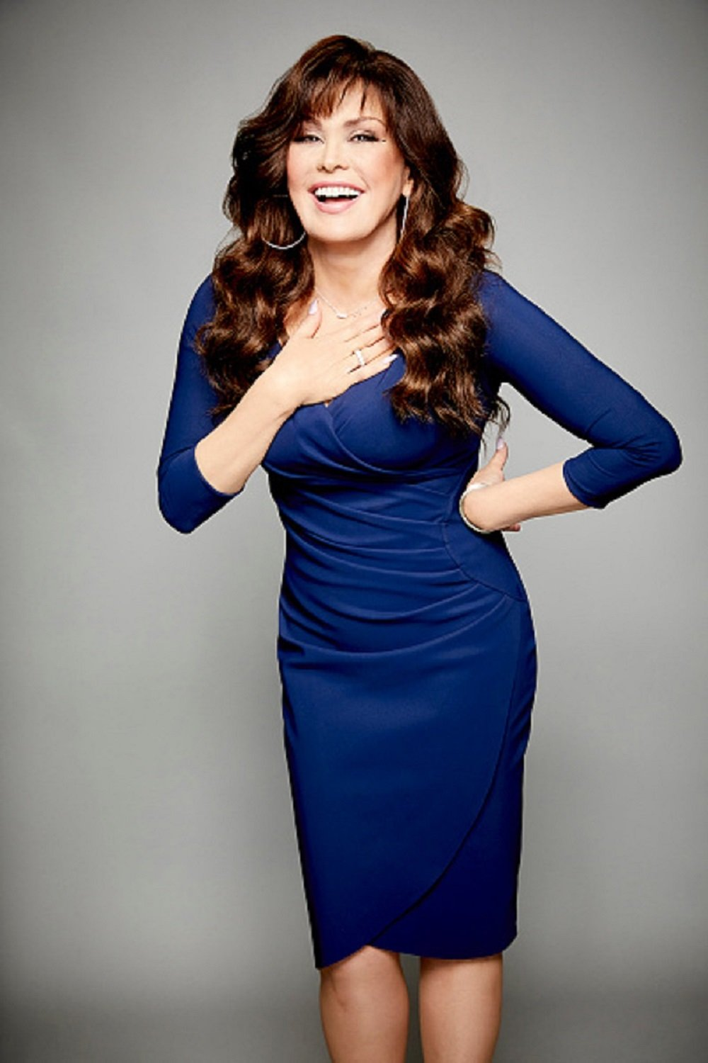 Marie Osmond, host of the CBS series THE TALK, on the CBS Television Network.| Photo: Getty Images.