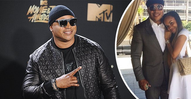 LL Cool J  at the 2017 MTV Movie And TV Awards, and a photo of the rapper with his daughter Samaria Leah | Photo: Getty Images, instagram.com/samarialeah